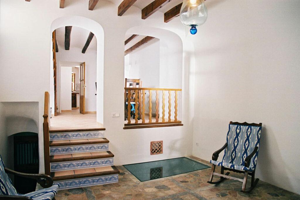 entrance hall of a traditional village house Biniaraix Mallorca