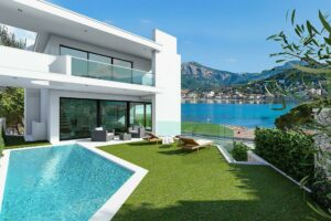 Modern contemporary design. Villa in Frontline location with the beach at your doorsteps